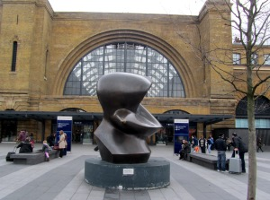 Henry Moore sculpture at Kings Cross
