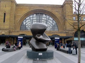 Henry Moore sculpture at Kings Cross