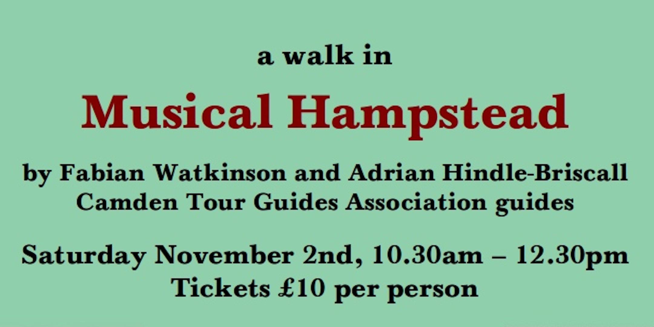Musical Hampstead Nov banner